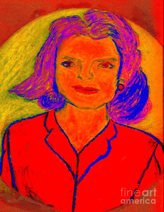Jack Kennedy Painting - Jacqueline Kennedy Dallas by Richard W Linford