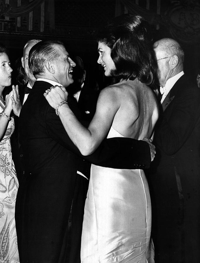 Jacqueline Photograph - Jacqueline Kennedy Dancing by Retro Images Archive