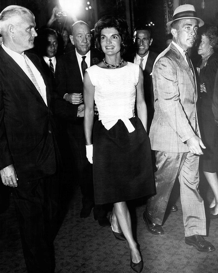 Retro Photograph - Jacqueline Kennedy Doesnt Need A Red Carpet by Retro Images Archive