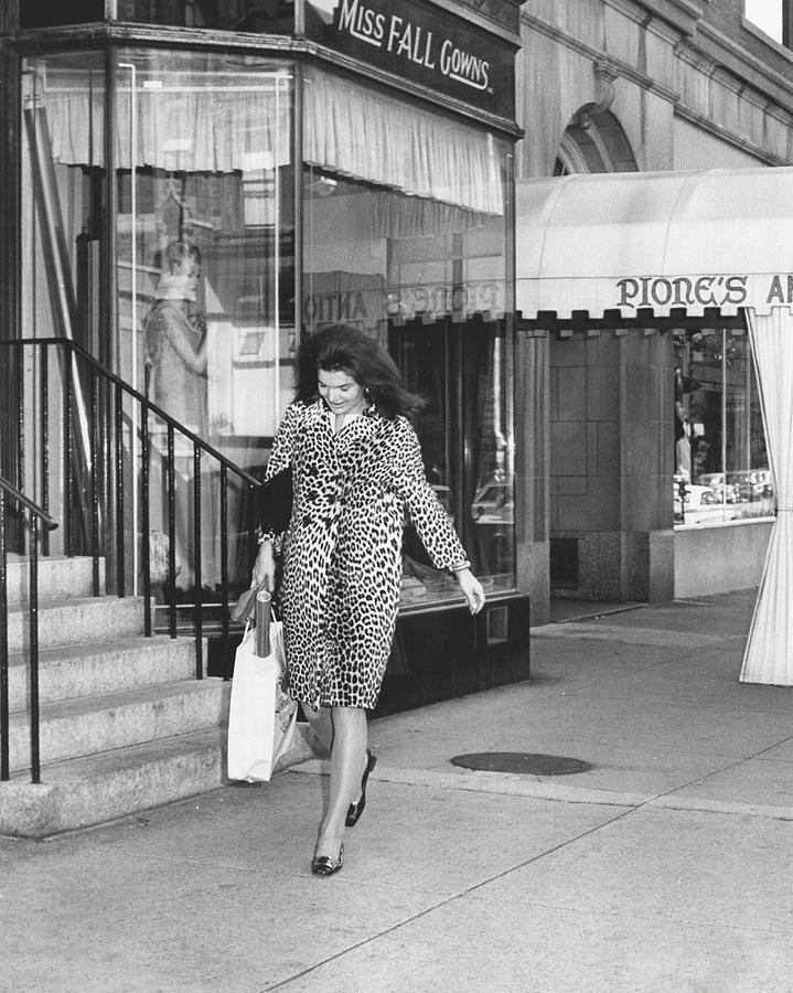 Retro Photograph - Jacqueline Kennedy In Leopard Print by Retro Images Archive