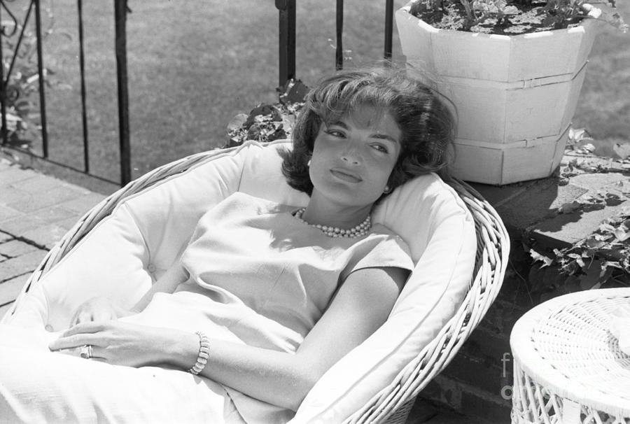 Jacqueline Kennedy Photograph - Jacqueline Kennedy relaxing at Hyannis Port 1959. by The Harrington Collection