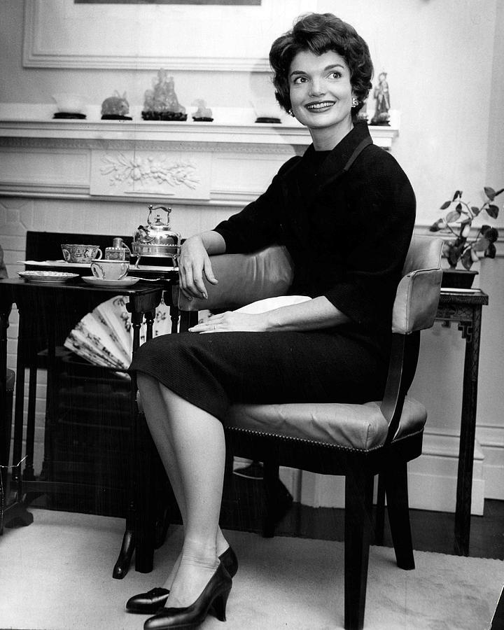 Retro Photograph - Jacqueline Kennedy Sitting Pretty by Retro Images Archive