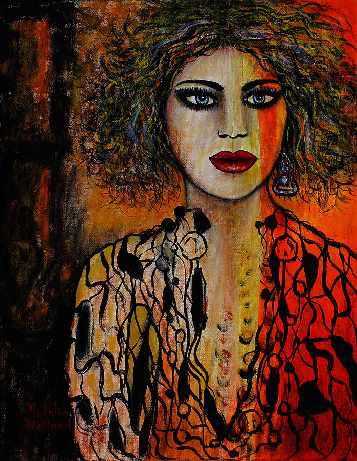 Woman Painting - Jacquelyn by Natalie Holland