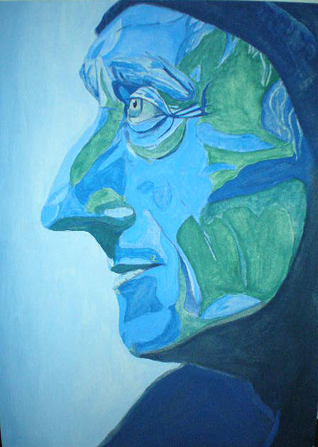 Analogous Painting - Jacques Cuso En Blue by Steve Spagnola