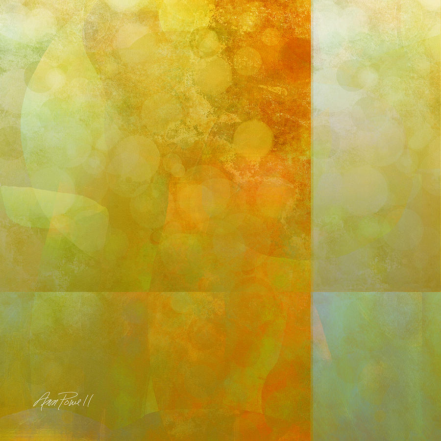 Abstract Painting - Jade And Carnelian Abstract Art  by Ann Powell