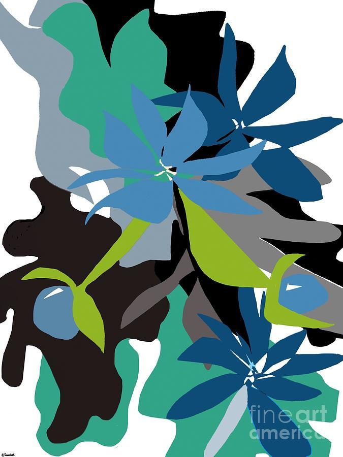 Jade Leaf Flowers by Christine Fournier
