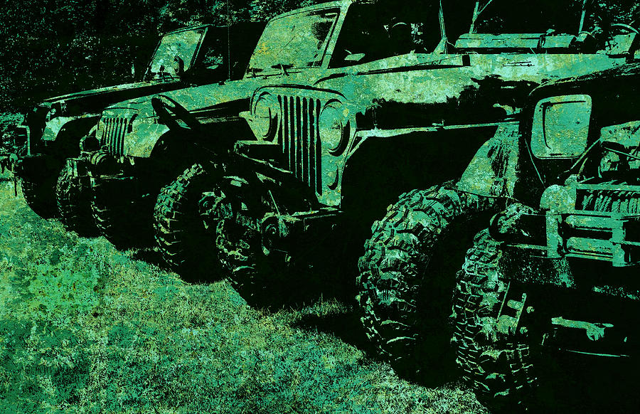 Jeep Photograph - Jaded Sticks And Stones... Wont Break My Bones by Luke Moore