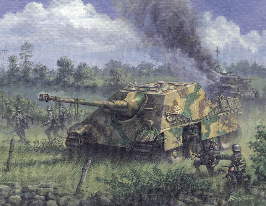 Jagdpanther In Normandy 1944 Painting By Philip Arena