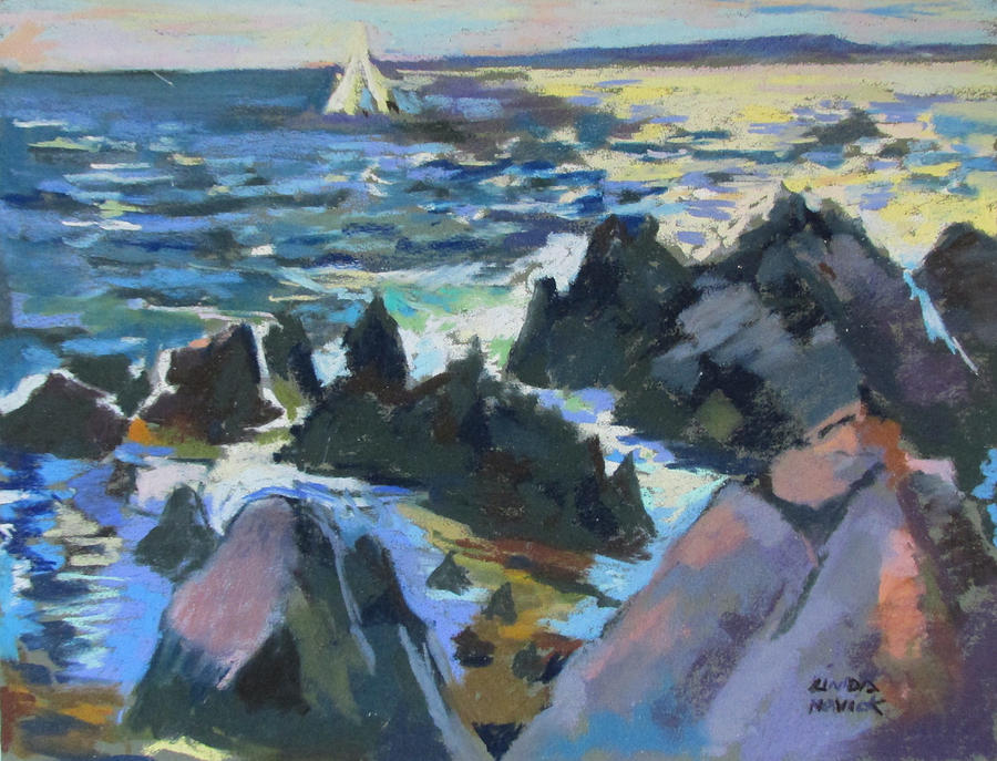 Jagged Rocks by Linda Novick
