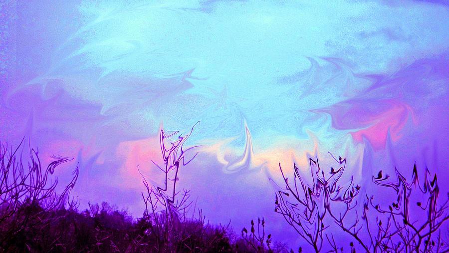 Digital Photograph - Jagged Sky by Crystal Harman