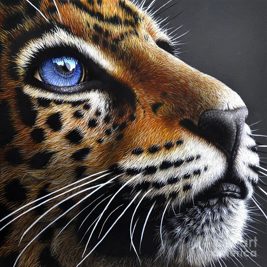 Jaguar Cub Painting - Jaguar Cub by Jurek Zamoyski