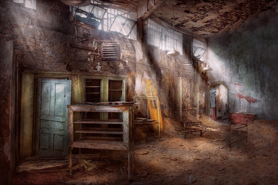 Jail Photograph - Jail - Eastern State Penitentiary - Sick Bay by Mike Savad