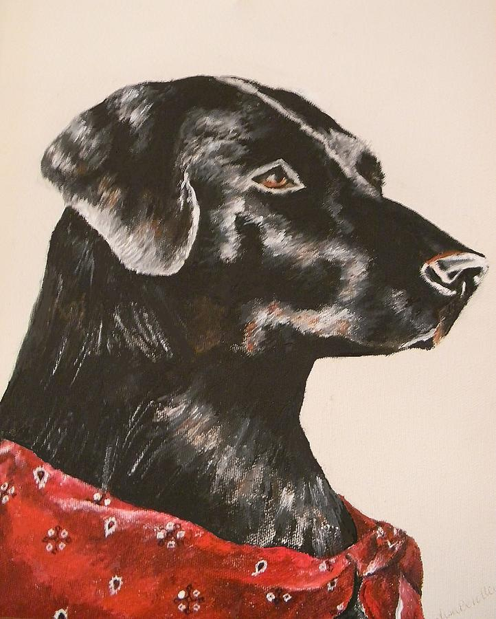 Dog Painting - Jake by Lisa Bentley