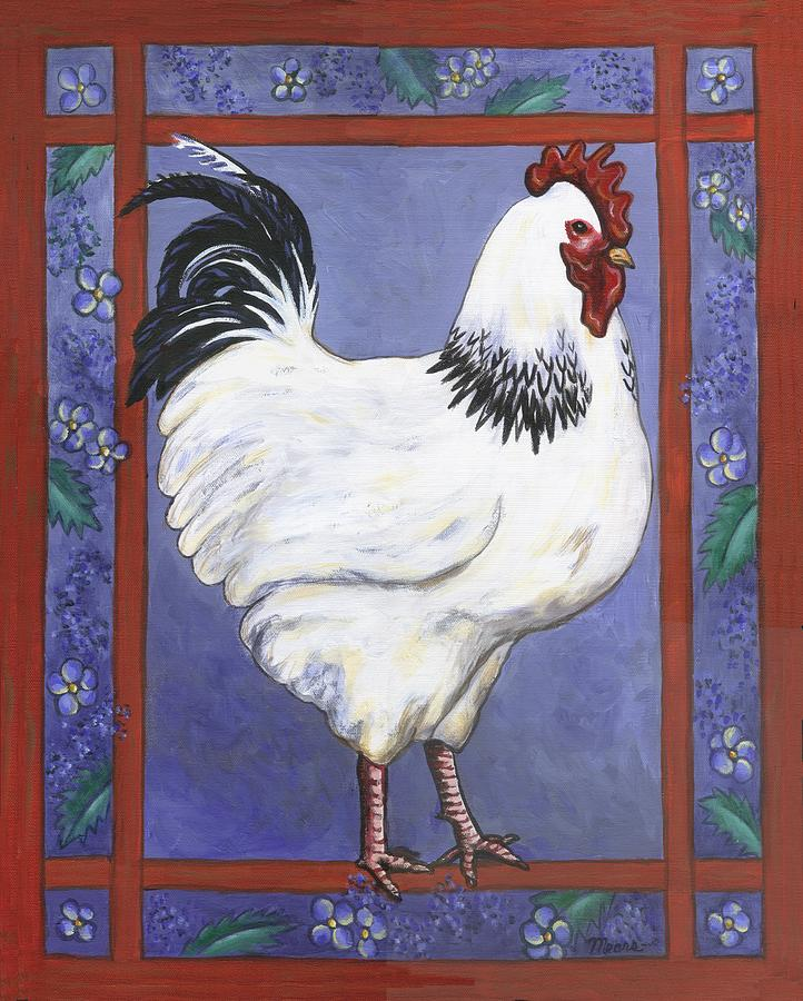Rooster Painting - Jake The Rooster by Linda Mears
