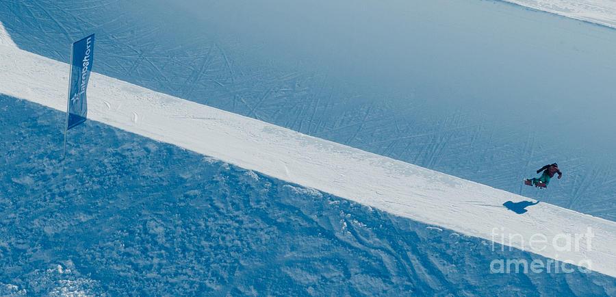 Jakobshorn Air Snowboarder Halfpipe Davos Photograph