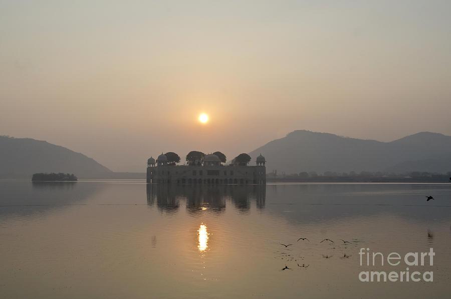 Sunrise Photograph - Jal Mahal In Sunrise by Elena Perelman