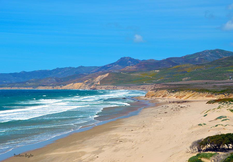 Barbara Snyder Digital Art - Jalama Beach Santa Barbara County California by Barbara Snyder