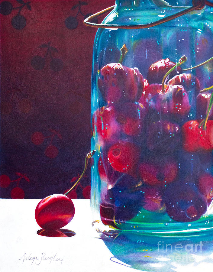 Colored Pencil Painting - Jam Packed by Arlene Steinberg