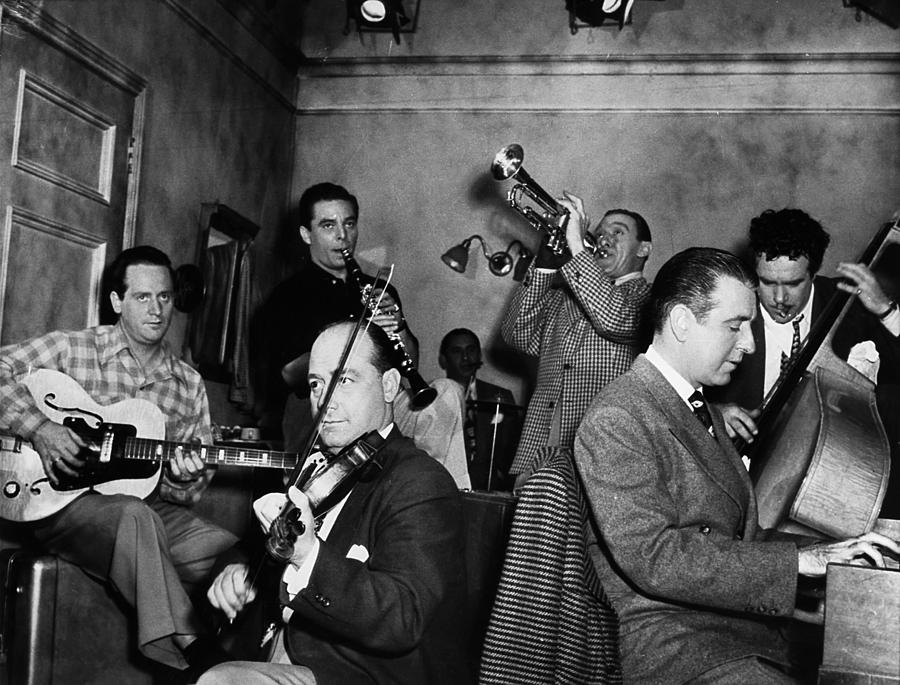 1947 Photograph - Jam Session, 1947 by Granger