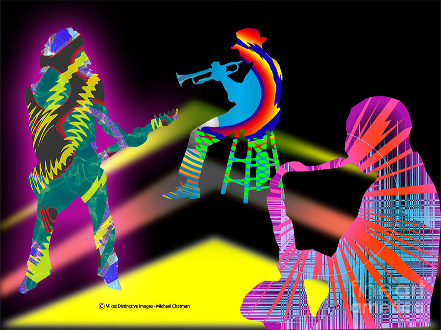 Jam Session Digital Art - Jam Session by Michael Chatman