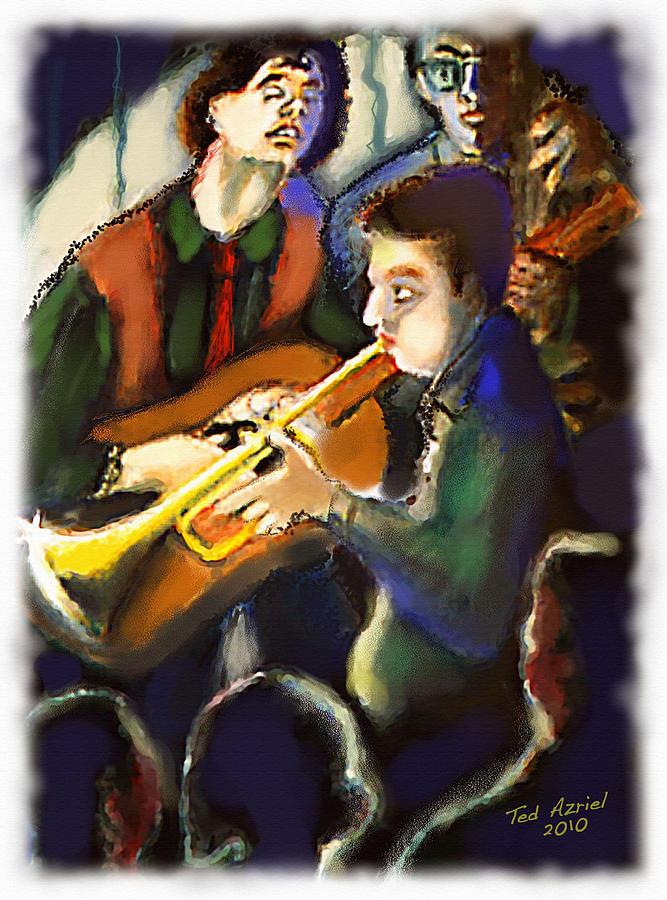 Jazz Digital Art - Jam Session by Ted Azriel