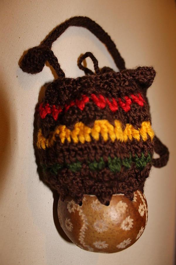Crafts Mixed Media - Jamaican Coconut And Crochet Shoulder Bag by MOTORVATE STUDIO Colin Tresadern