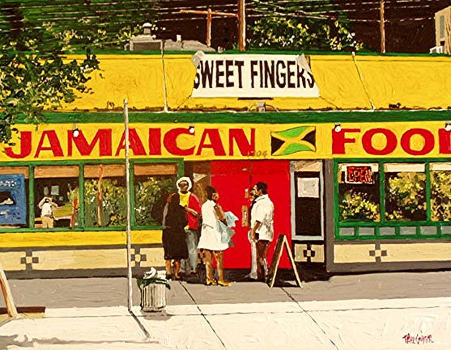 Sacramento Painting - Jamaican Food by Paul Guyer