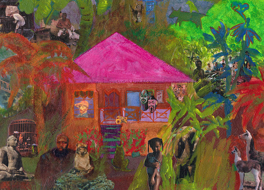 Collage Mixed Media - Jamaican Holiday by Catherine Redmayne
