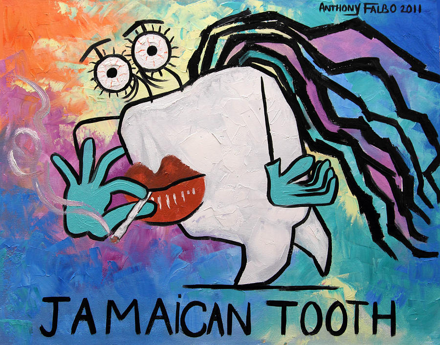 Prints Painting - Jamaican Tooth by Anthony Falbo