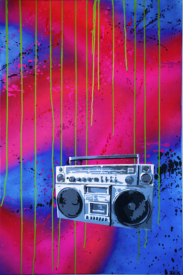 Boombox Painting - Jamboxxx by Bobby Zeik