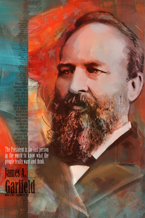 James A Garfield Painting - James A. Garfield by Corporate Art Task Force