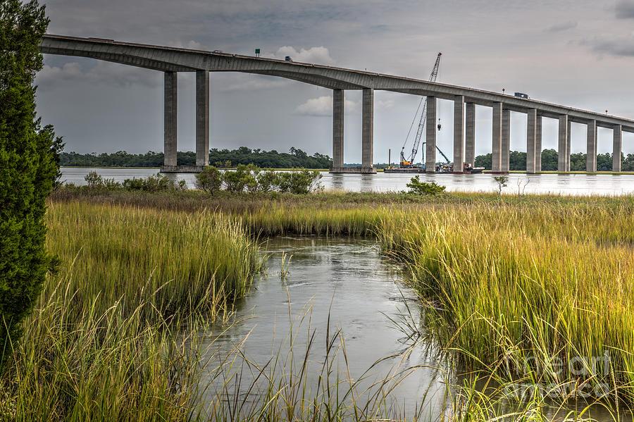James B Edwards Bridge Repair Photograph