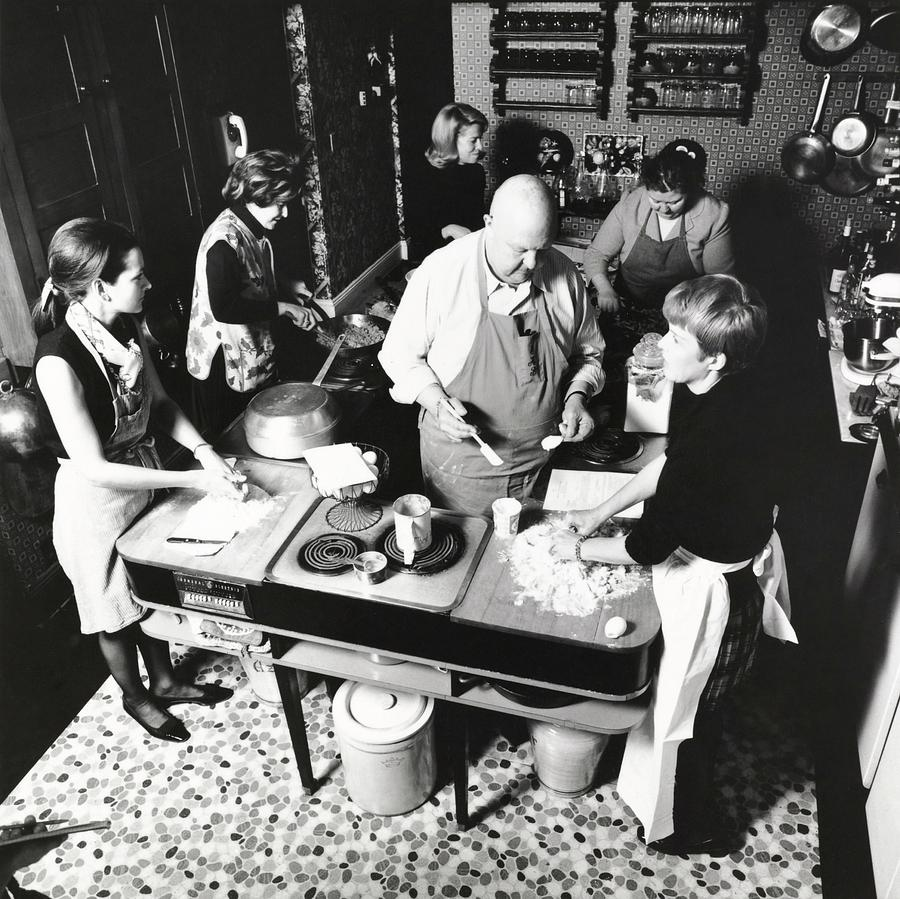 James Beard Teaching Students Photograph by Ernst Beadle