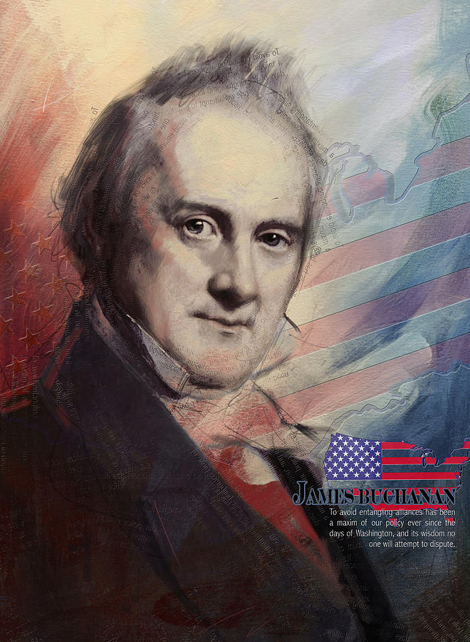 James Buchanan Painting - James Buchanan by Corporate Art Task Force
