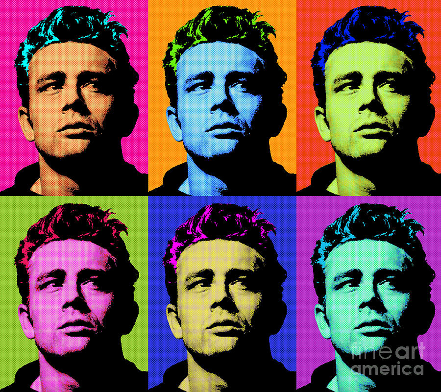 James Dean Wall Art Canvas