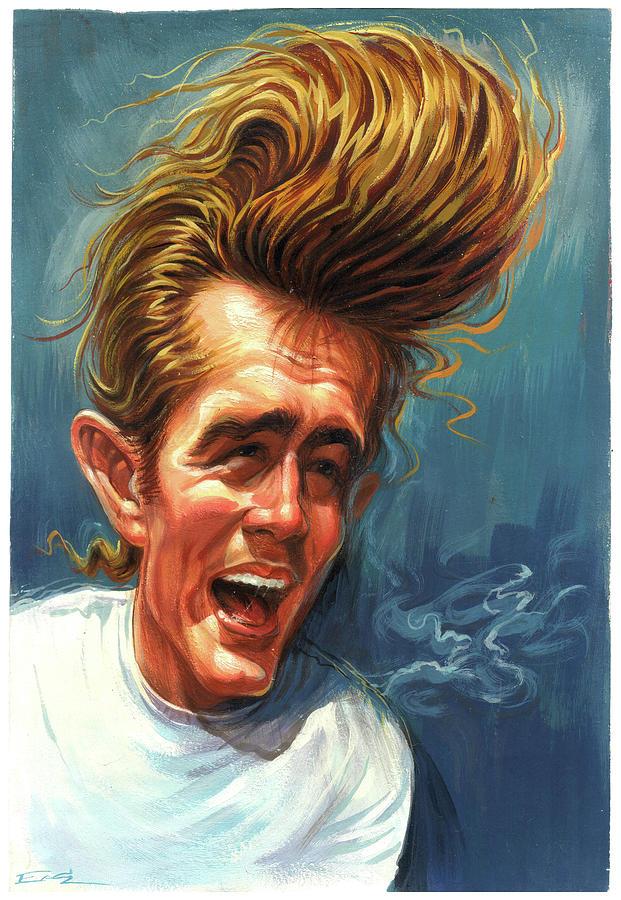 James Dean Painting - James Dean by Art