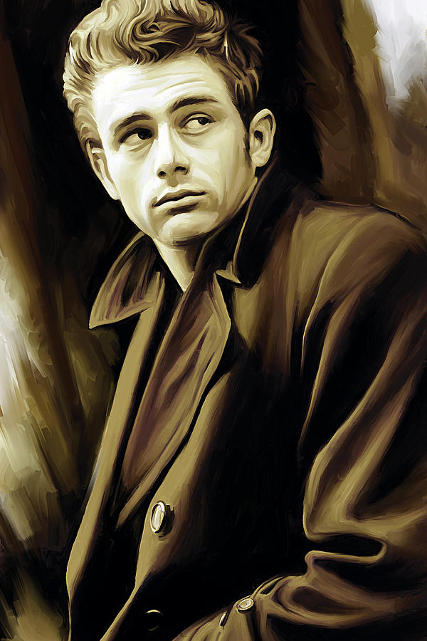 Rebel Without A Cause Painting - James Dean Artwork by Sheraz A