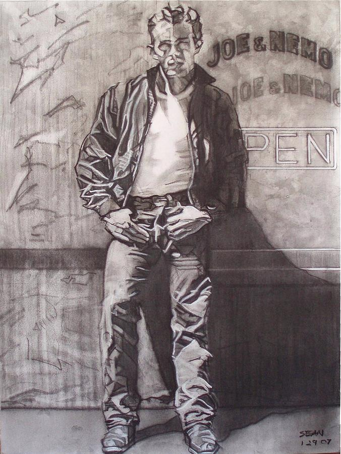 James Dean Drawing by Sean Connolly