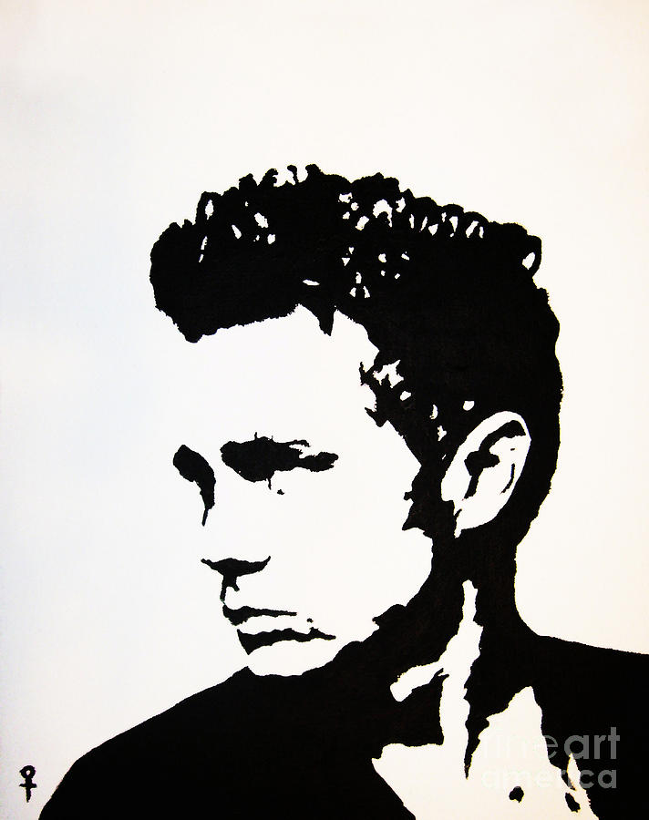 james dean black and white painting - photo #11