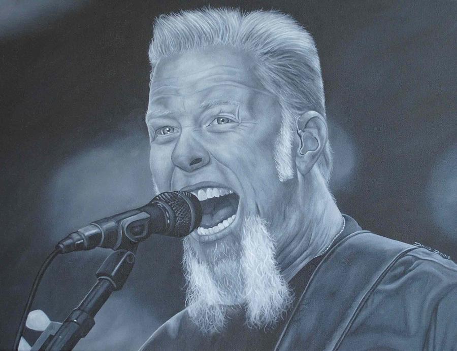 James Hetfield Painting - James Hetfield I by David Dunne
