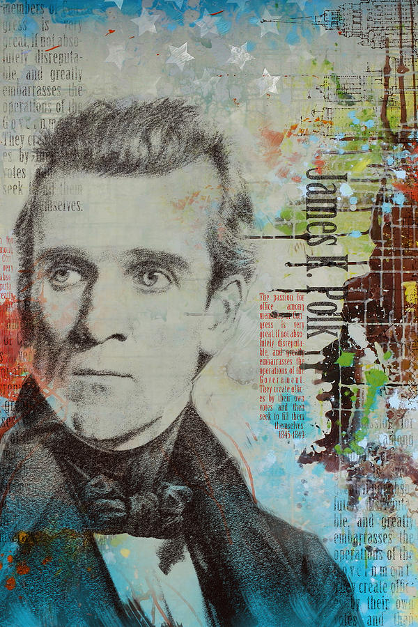 James K. Polk Painting - James K. Polk by Corporate Art Task Force