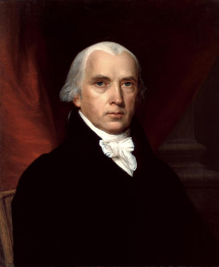 James Madison Digital Art - James Madison by Georgia Fowler
