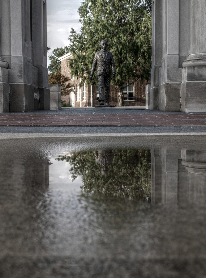 James Meredith Photograph - James Meredith Statue Reflection by Joshua House