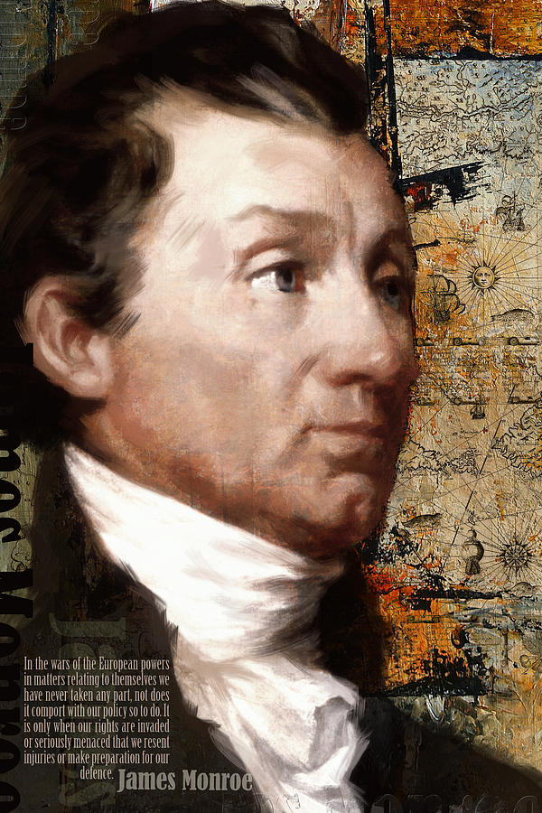 President Of The United States Painting - James Monroe by Corporate Art Task Force
