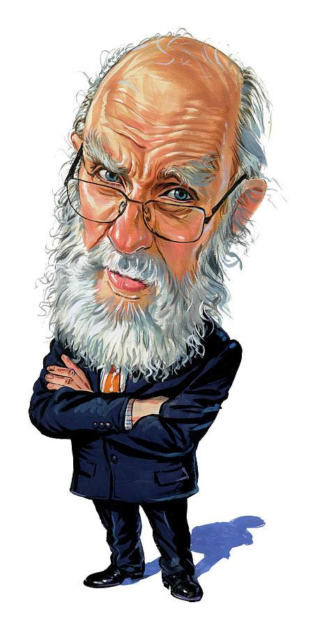 James Randi Painting - James Randi by Art