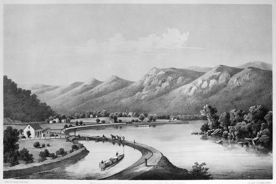 1857 Painting - James River Canal, 1857 by Granger