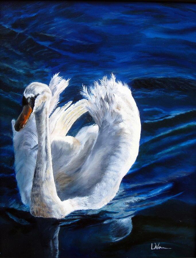 Swan Painting - Jamies Swan by LaVonne Hand