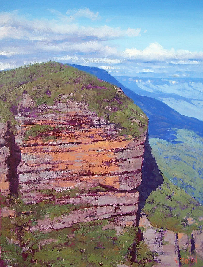 Jamison Cliff Face  Leura Painting