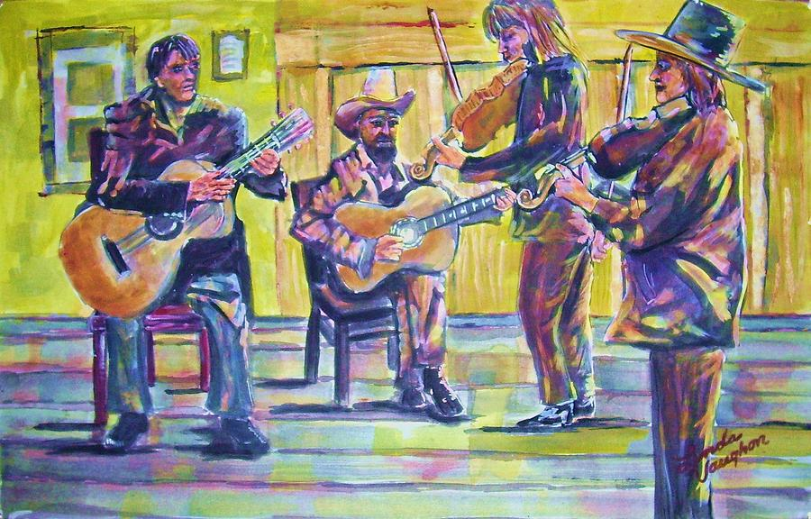 Jammin Painting by Linda Vaughon