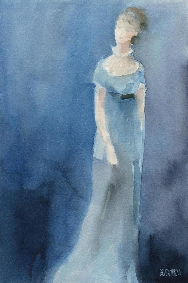 Jane Austen Painting - Jane Austen Watercolor Painting Art Print by Beverly Brown Prints